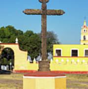 Cross In Cholula, Mexico Art Print