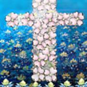 Cross Of Flowers Art Print