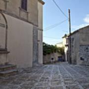 Cross Road In Sicily Art Print
