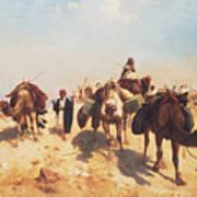 Crossing The Desert Art Print by Jean Leon Gerome