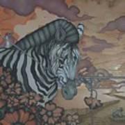 Crossing The Mara Art Print