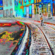 Crossing the Tracks Art Print