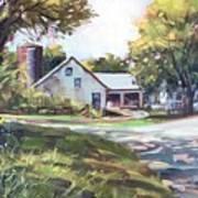 Crossroads Farmhouse Art Print