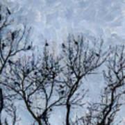 Crow Counting  Art Print