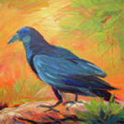 Crow In The Grass 7 Art Print