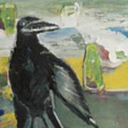 Crow Ruckus Art Print