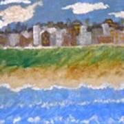 Crowded Beaches Art Print