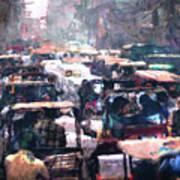 Crowded Streets Art Print