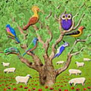 Crowded Tree Art Print