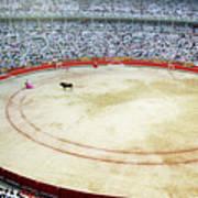 Crowds Watching A Bullfight During The July San Firmin Fiesta In Pamplona Art Print