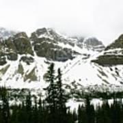 Crowfoot Mountain At Bow Lake Art Print