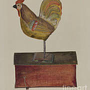Crowing Cock Art Print