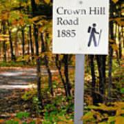Crown Hill Road 1885 Art Print