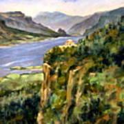 Crown Point Oregon Art Print