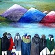 Crowned Lake Art Print
