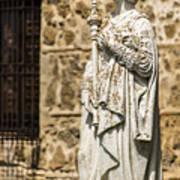 Crowned Statue - Toledo Spain Art Print