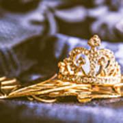 Crowned Tiara Jewellery Art Print