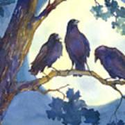 Crows In Moonlight Art Print