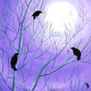 Crows On Empty Branches Art Print