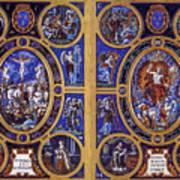 Crucifixion And Resurrection  Art Print