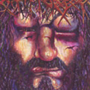 Crucifixion. Master Fully Done Art Print by Jean-Marie Poisson
