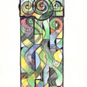 Cruciform X Art Print