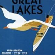 Cruise Across The Great Lakes - Canadian Pacific - Retro Travel Poster - Vintage Poster Art Print