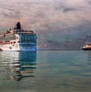 Cruise Ship Parking Art Print