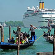 Cruise Ship Port Of Venice Art Print