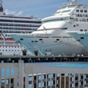 Cruise Ship Trio Art Print