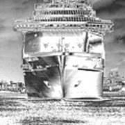 Cruise Ships In Chrome Art Print