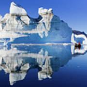 Cruising Between The Icebergs, Greenland Art Print