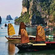Cruising Ha Long Bay  Vietnam Art Print