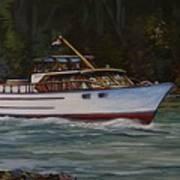 Cruising The British Columbia Gulf Islands, Canada                                       Art Print