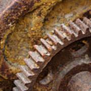 Crusty Rusty Gears Art Print