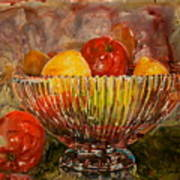 Crystal Bowl Of Fruit Art Print