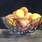 Crystal Bowl With Fruit Art Print