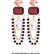 Crystal Earrings For Women Art Print