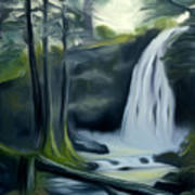 Crystal Falls In The Black Forest Dreamy Mirage Art Print