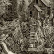 Crystal Mill Marble Colorado Sepia Dsc06944 Art Print