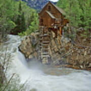 Crystal Mill Swirls Art Print
