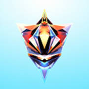 Crystal Shapes - 24 Art Print