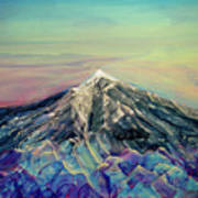 Crystalline Mountain Art Print