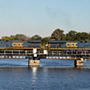 Csx On Mills Bayou Art Print