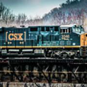 Cs X  Ge Engine 3046 On Trestle Art Print
