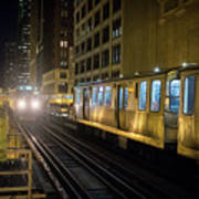 Cta Meet At The State-lake Street Station Chicago Illinois Art Print