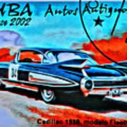 Cuba Antique Auto 1959 Fleetwood Art Print