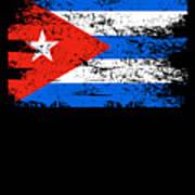 Cuba Flag Gift Country Patriotic Travel Shirt Americas Light Art Print