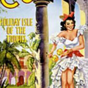 Cuba Holiday Isle Of The Tropics Vintage Poster Art Print