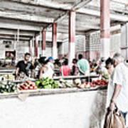 Cuba Market Art Print